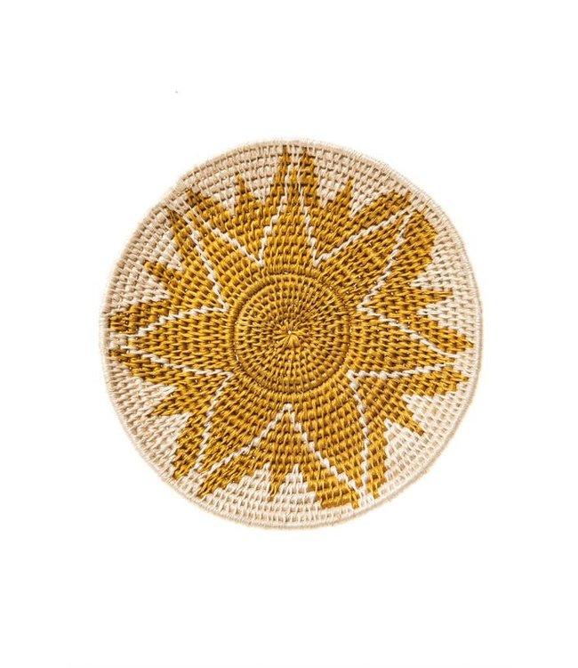 Sisal basket Zienzele earth colors Ø20 cm #555
