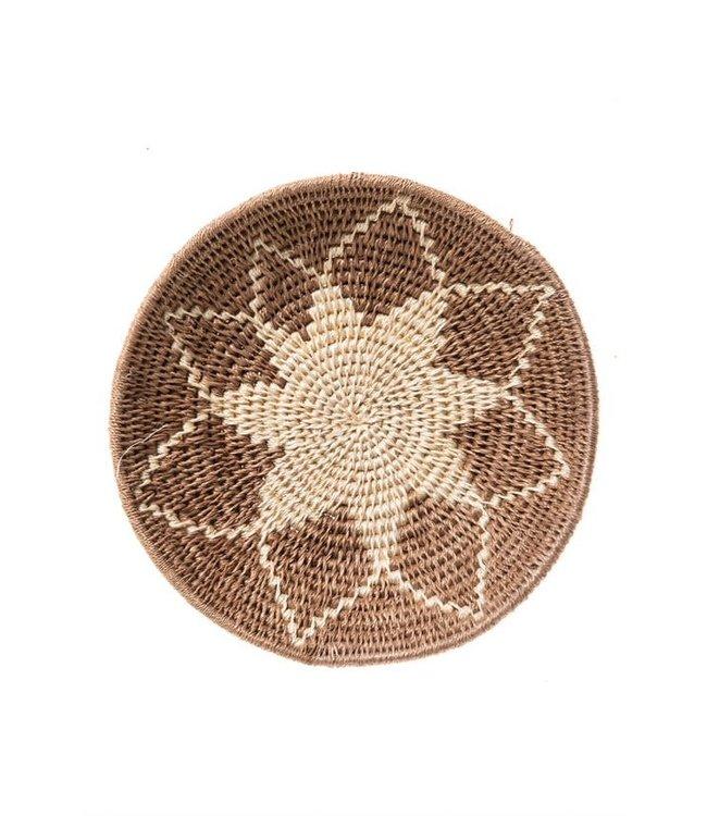 Sisal basket Zienzele earth colors Ø20 cm #558