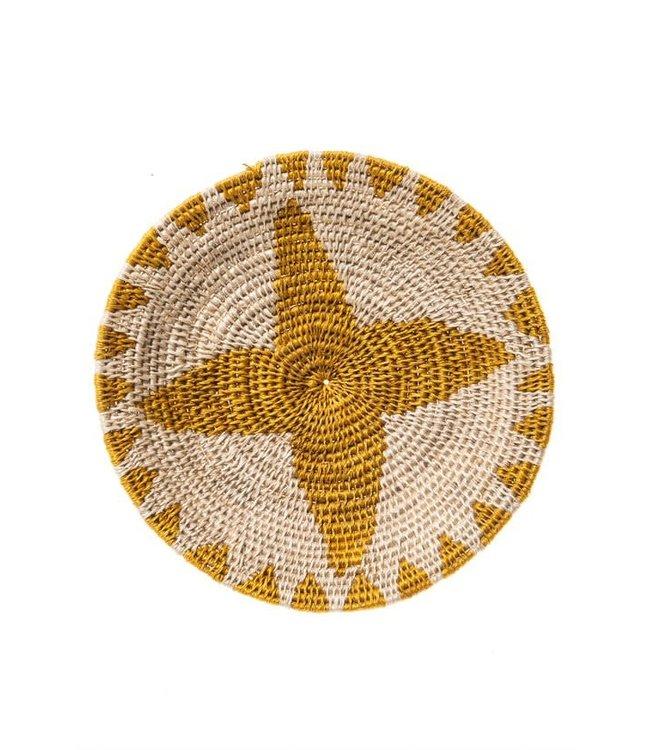 Sisal basket Zienzele earth colors Ø20 cm #556