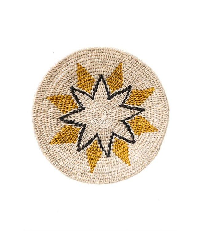 Sisal basket Zienzele earth colors Ø20 cm #567
