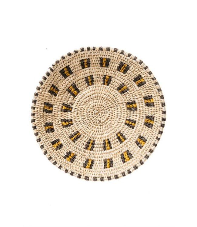 Sisal basket Zienzele earth colors Ø20 cm #568