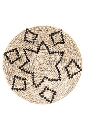 Sisal basket Zienzele black/white Ø20 cm #574