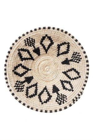 Sisal basket Zienzele black/white Ø20 cm #576