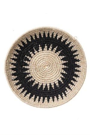 Sisal basket Zienzele black/white Ø20 cm #577