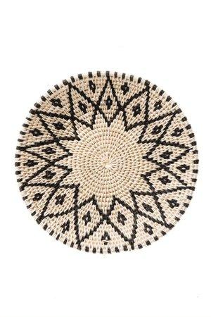 Sisal basket Zienzele black/white Ø20 cm #578