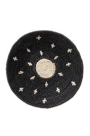 Sisal basket Zienzele black/white Ø20 cm #581