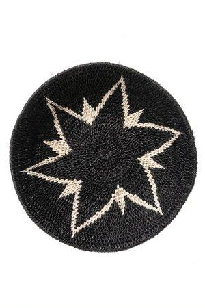 Sisal basket Zienzele black/white Ø20 cm #582
