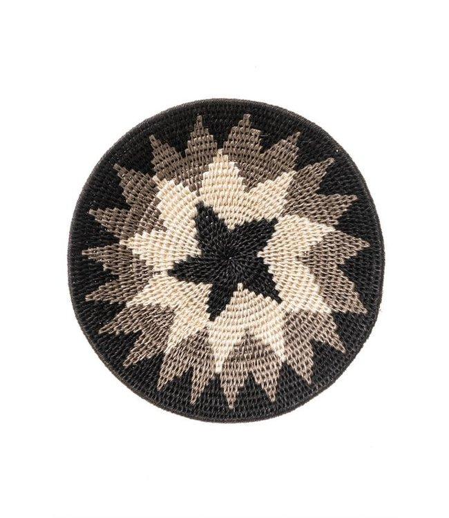 Sisal basket Zienzele black/white Ø20 cm #583