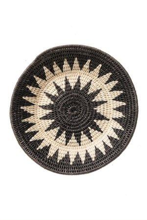 Sisal basket Zienzele black/white Ø20 cm #585