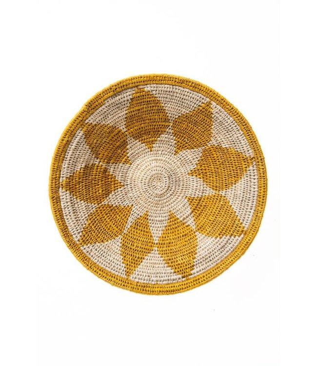 Sisal basket Zienzele earth colors Ø25 cm #586