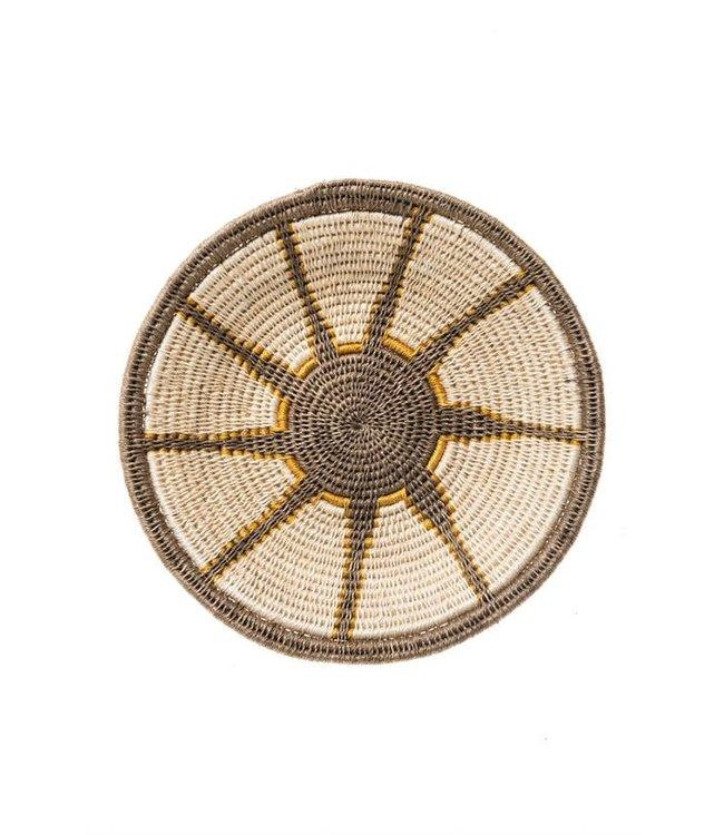 Sisal basket Zienzele earth colors Ø25 cm #588