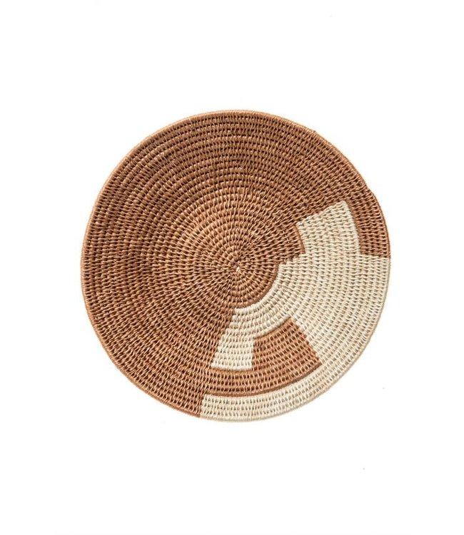 Sisal basket Zienzele earth colors Ø25 cm #590