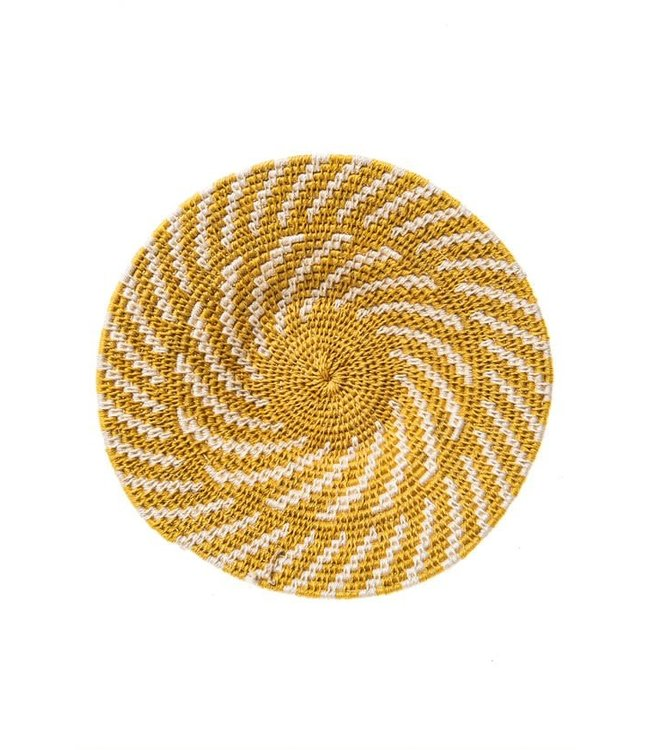 Sisal basket Zienzele earth colors Ø25 cm #591