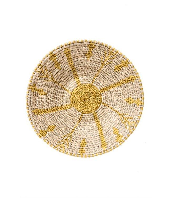 Sisal basket Zienzele earth colors Ø25 cm #592