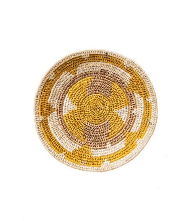 Sisal basket Zienzele earth colors Ø25 cm #593