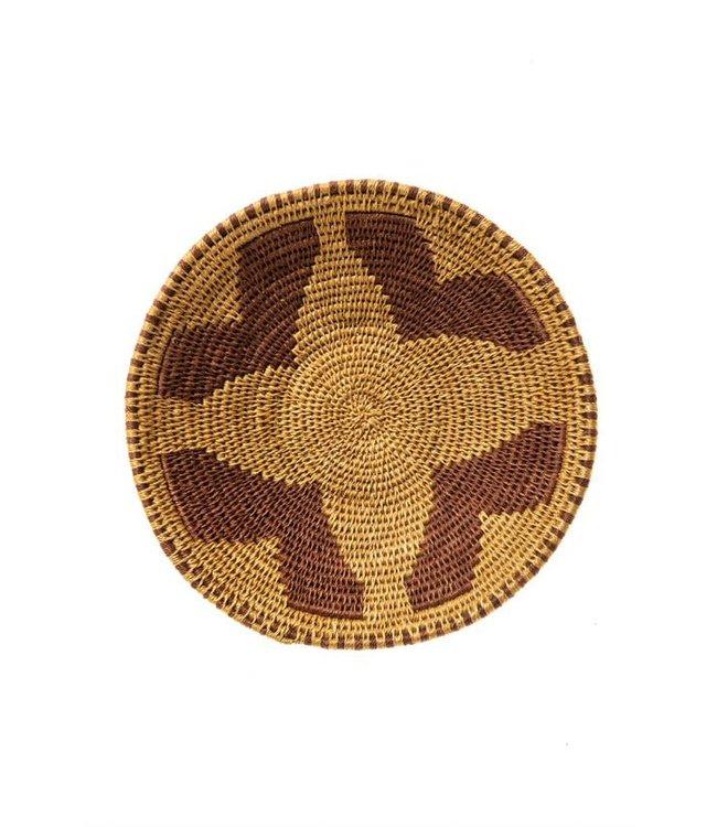Sisal basket Zienzele earth colors Ø25 cm #595