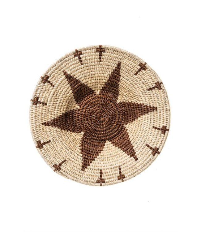 Sisal basket Zienzele earth colors Ø25 cm #596
