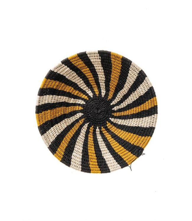 Sisal basket Zienzele earth colors Ø25 cm #597