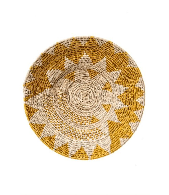 Sisal basket Zienzele earth colors Ø25 cm #598