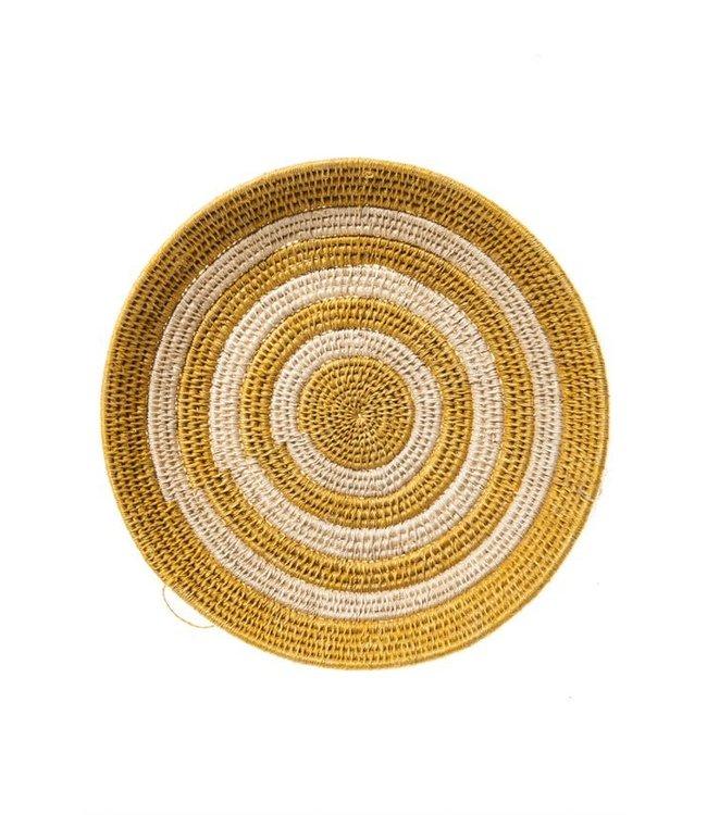 Sisal basket Zienzele earth colors Ø25 cm #599