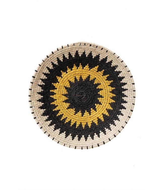 Sisal basket Zienzele earth colors Ø25 cm #601