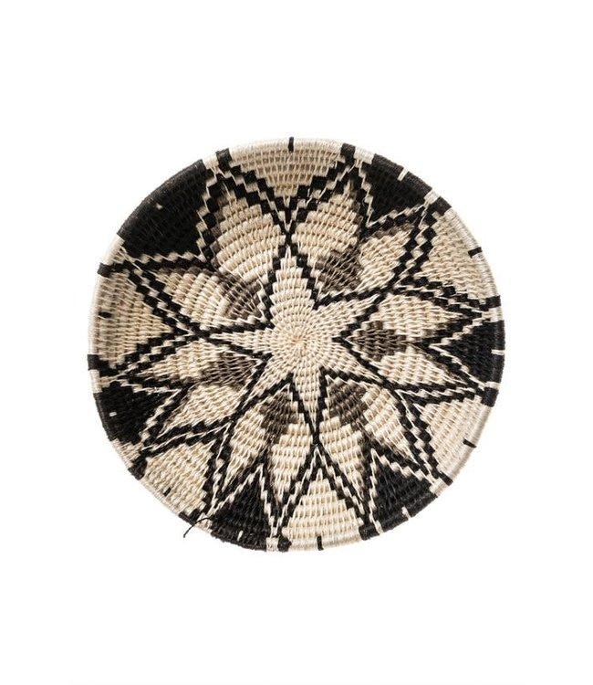 Sisal mand Zienzele zwart-wit Ø25 cm #603