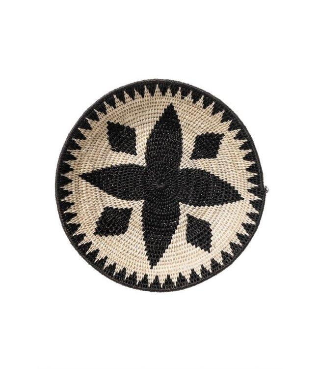 Sisal basket Zienzele black/white Ø25 cm #607