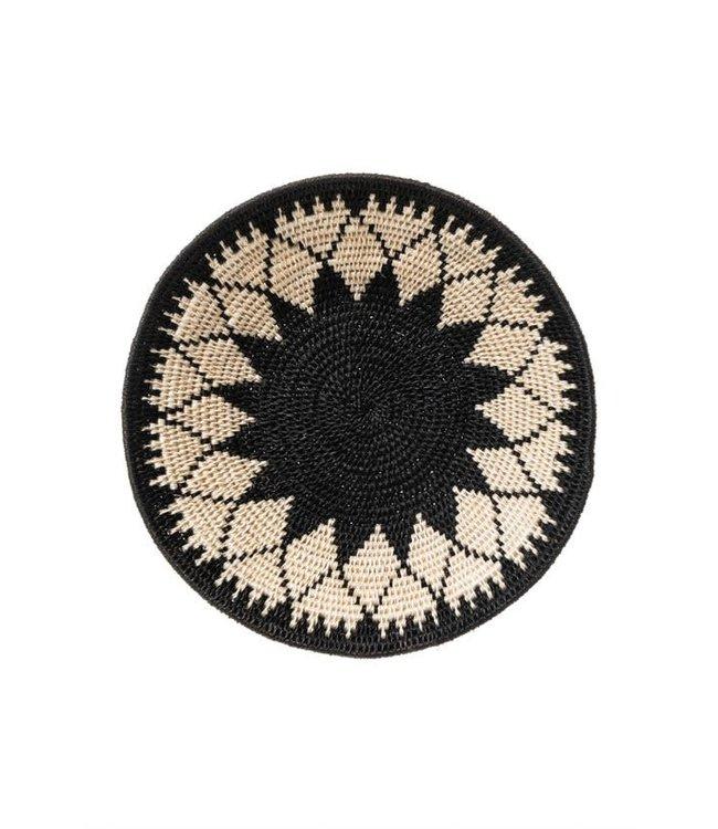 Sisal basket Zienzele black/white Ø25 cm #608