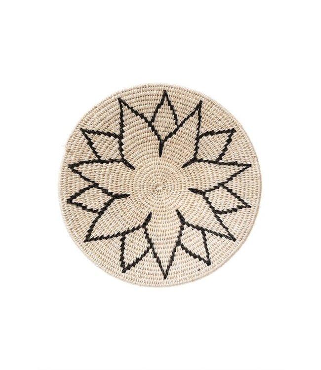 Sisal basket Zienzele black/white Ø25 cm #609