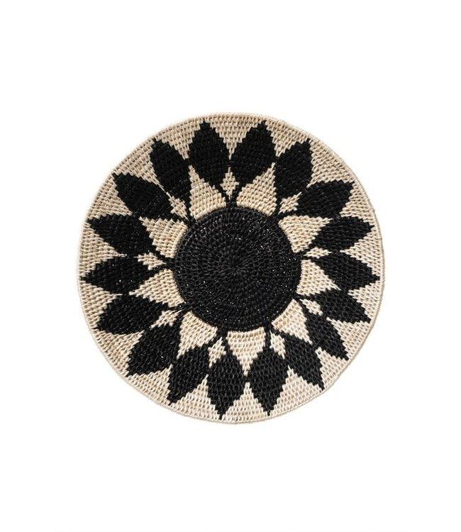 Sisal mand Zienzele zwart-wit Ø25 cm #612