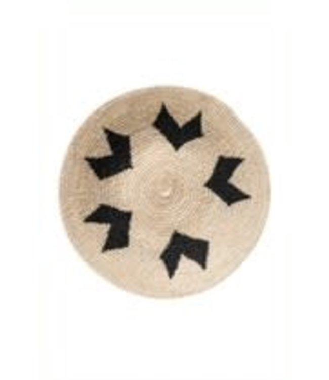 Sisal mand Zienzele zwart/wit Ø25 cm #613