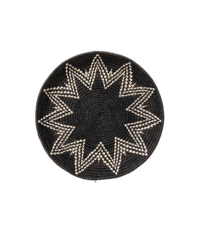 Sisal mand Zienzele zwart-wit Ø25 cm #617