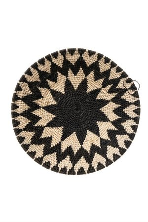 Sisal basket Zienzele black/white Ø25 cm #621