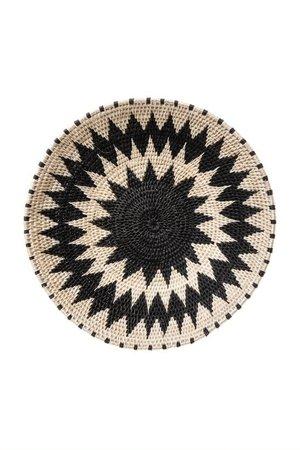 Sisal basket Zienzele black/white Ø25 cm #623