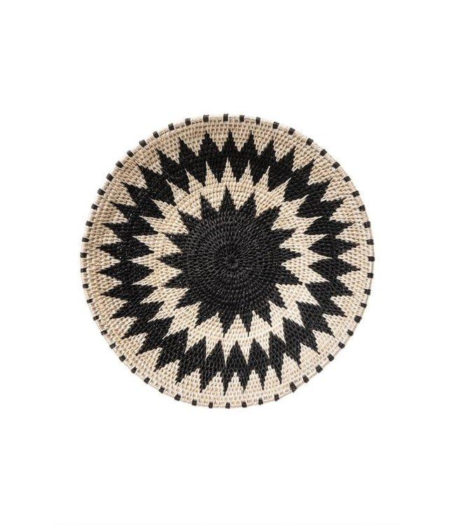 Sisal mand Zienzele zwart-wit Ø25 cm #623