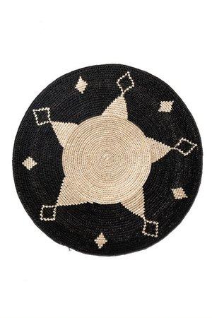Sisal basket Zienzele black/white Ø40 cm #680