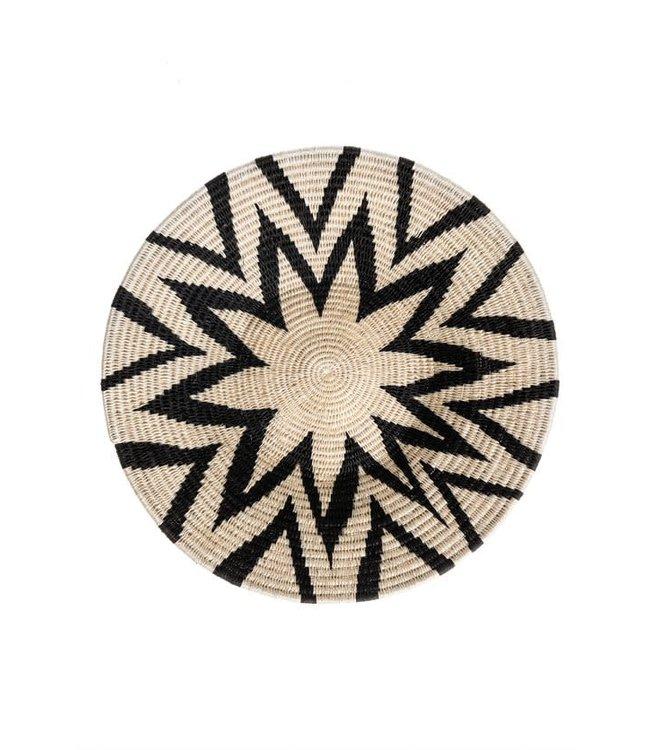 Sisal basket Zienzele black/white Ø40 cm #681
