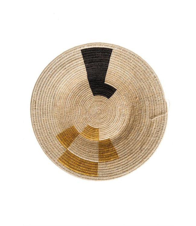 Sisal basket Zienzele earth colors Ø40 cm #684