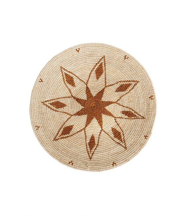 Sisal basket Zienzele earth colors Ø40 cm #685