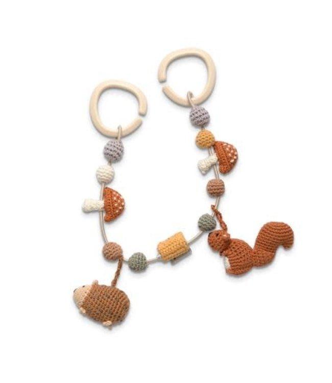Sebra Crochet pram chain - nightfall