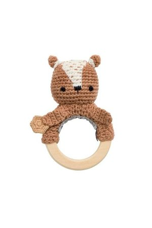 Sebra Gehaakte rammelaar - milo the bear