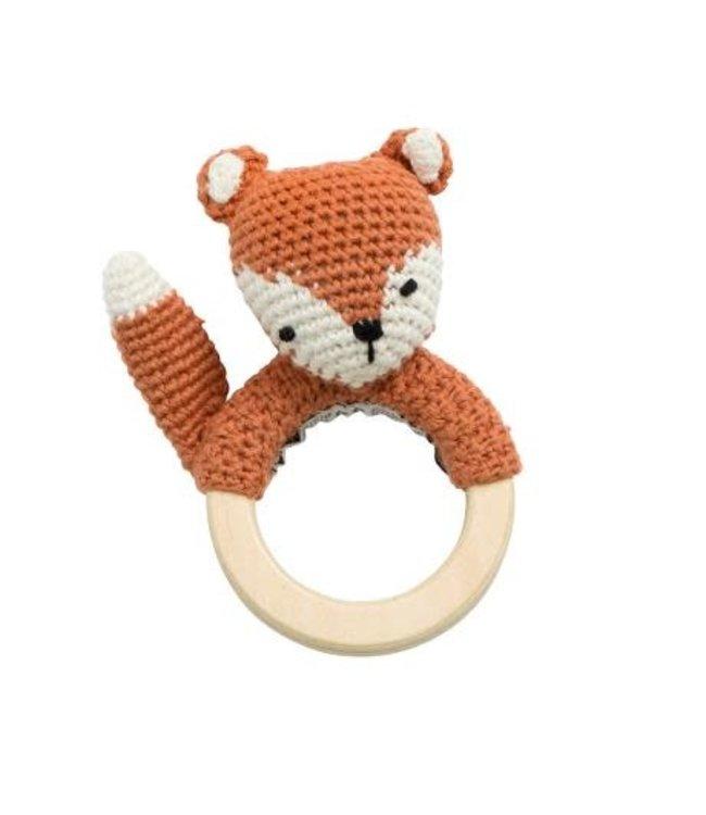 Sebra Crochet rattle - sparky the fox