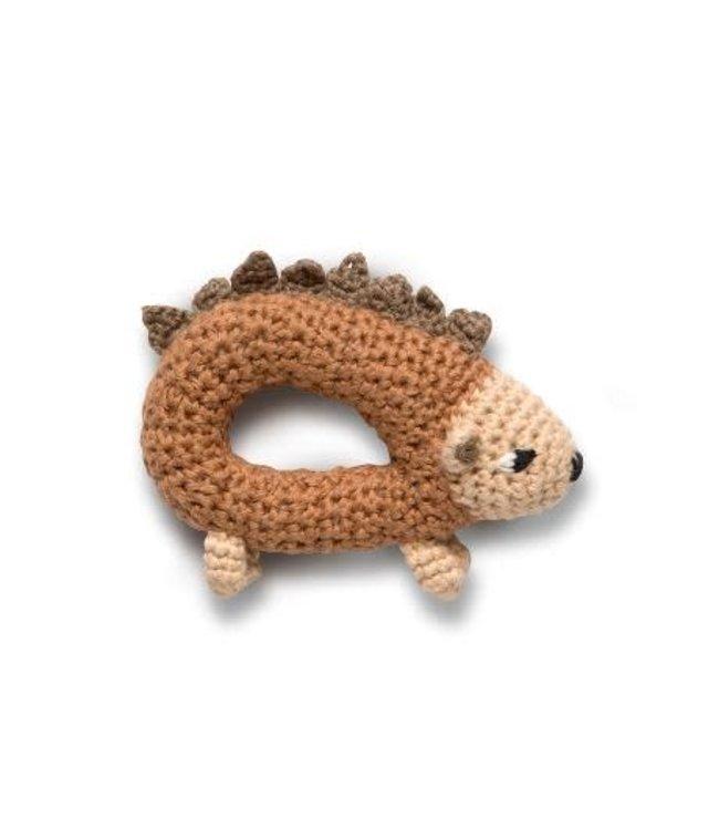 Crochet rattle - twinkle the hedgehog