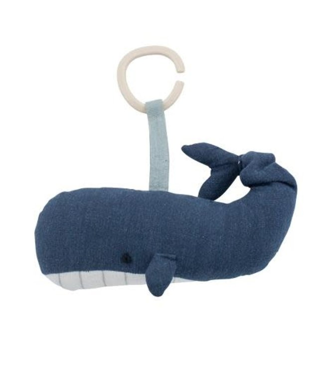 Musical pull toy marion the wale - ocean dive navy