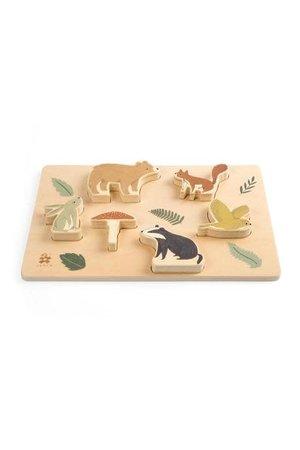 Sebra Wooden chunky puzzle, - nightfall
