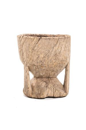 Old wooden mortar Peul #14
