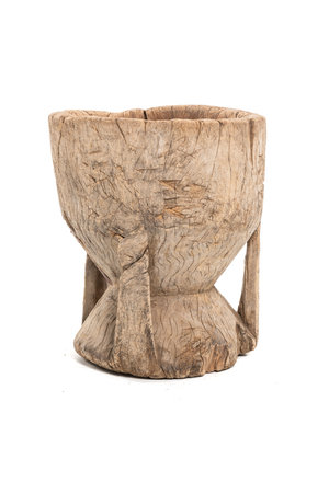 Old wooden mortar Peul #15