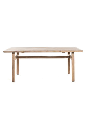 Old table elm wood with wooden legs #5
