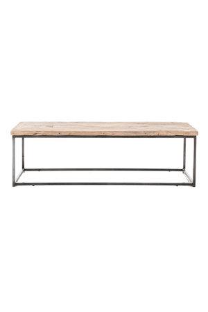 Coffee table elm wood with metal legs #1 - L140 x W61 x H42 cm