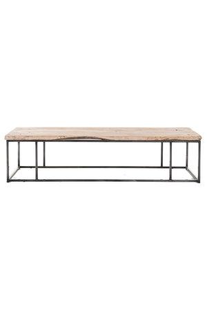 Salontafel olm hout met metalen onderstel #2 - L177 x B66 x H43 cm